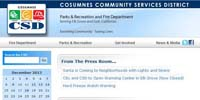 Cosumnes Community Services District Parks & Recreation and Fire Department