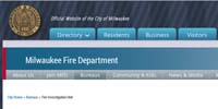Fire Investigation Unit - City of Milwaukee