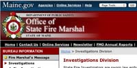 Maine Office of State Fire Marshal Investigations Division