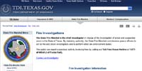 Texas Department of Insurance: Fire Investigations