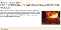 CDC Fire Fighter Fatality Investigation and Prevention Program