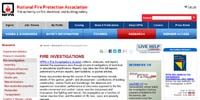 National Fire Protection Association: Fire Investigations