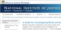 National Institute of Justice: A Guide for Investigating Bomb and Explosion Scenes